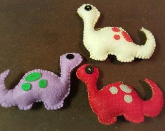 Handmade Colorful Felt Dinosaur with Spots