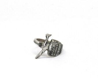 road runner ring, spoon ring, marathon ring, bird ring, arizona ring