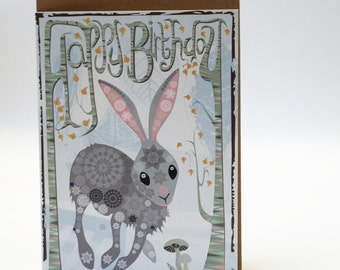 Rabbit greetings card