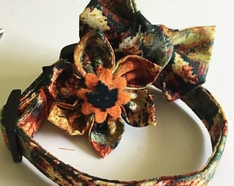 Colorful Fall Collar for Dogs and Cats