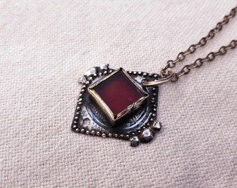 old moroccan silver pendent necklace