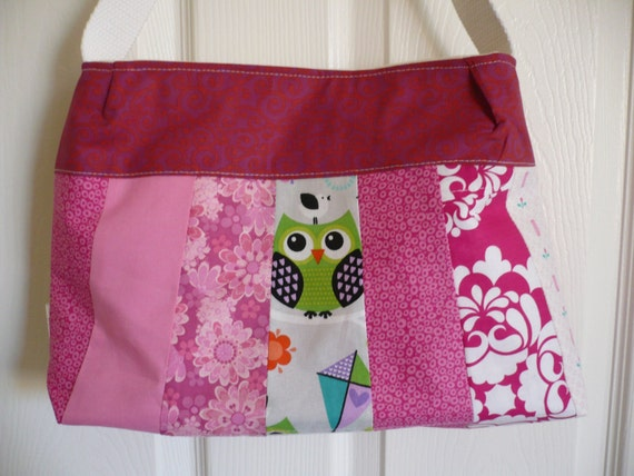 Multi-Pinks & White Purse Diaper Bag