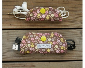 Ear buds & charger holders - Flowers