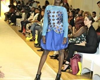 Gorgeous cotton and lace bubble dress