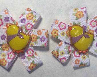 Embellished clip pair