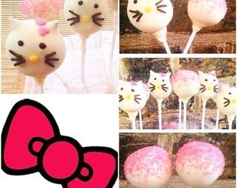 12 Hello Kitty Cake Pops x