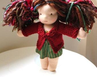 Knitting Pattern for Doll Sweater with Collar for 10-12 inch dolls - Permission to sell finished products