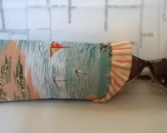 Quilted Sunglass Pouch - Eyeglass Pouch