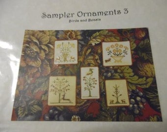 Sampler Ornaments 3 : Birds and Beasts by Handwork Samplers