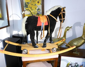 SALE! Org 495.00 Large Vintage Rocking Horse