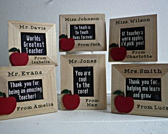 Teacher gift personalised desk sign photo frame best teacher appreciation gift personalized teacher gift end of term male teacher gift