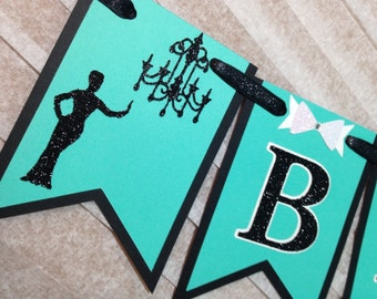 Breakfast at Tiffany's Bridal Shower Banner (Bride and Co Banner, Bridal Shower, Bachelorette Party, Breakfast at Tiffany's Party)