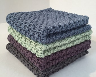 Wash Cloths in Bamboo and Cotton