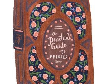 Vintage Book of Fairies Art Print