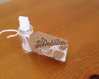 Tiny message in a bottle wedding invitation