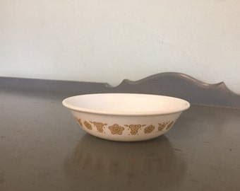 Four Corelle Butterfly Gold Berry / Dessert Bowls