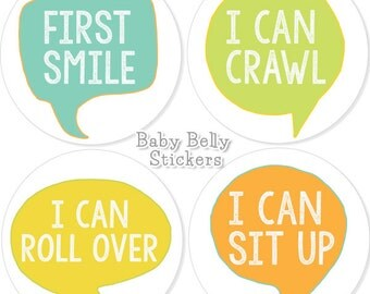 Baby Month Stickers, Monthly Baby Stickers, Growth Stickers, Monthly Milestone Stickers, Baby Monthly Stickers, Baby Belly Stickers, Boys