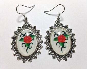 """Earrings """"Tribal Rose"""""""