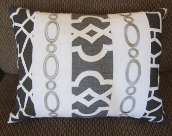 Monotone Cushion Case with Gray Back