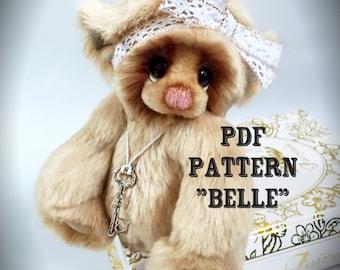 PDF Full Instructional Pattern for Belle Artist Teddy Bear by Devine Bears