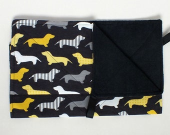 MicroFiber Dachshund Paw Wipe, Drool Towel, Doxie