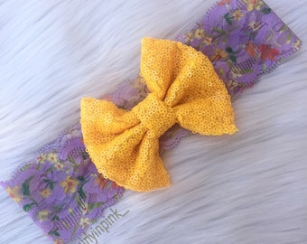 Summer floral lace headband