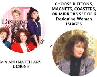 Designing women tv show-Classic tv-Comedy tv show-Tv shows-Popular tv show-Feminist tv shows-Tv show gift idea-Tv show coasters-Gift Set