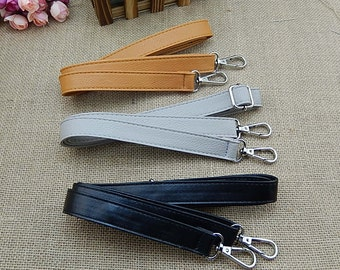 1 PCS Adjustable Faux Leather Strap for Crossbady Bag / Single Shoulder Messenger Bag Purse / Handbag, Black / Gray / Brown