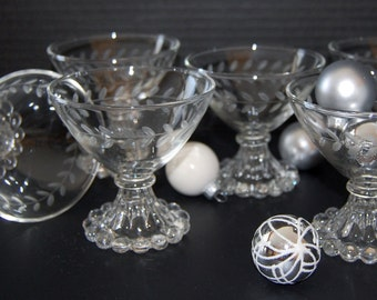 Boopie Champagne / Sherbet Glass Set by Anchor Hocking