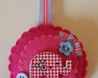 Handmade felt keyring
