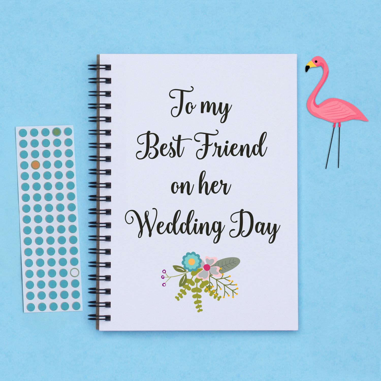 Best Gift For Best Friend Wedding: To My Best Friend On Her Wedding Day 5 X 7