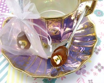 Gourmet Honey Spoons (12) Beverage Sweetener Bumble Bee Embellished on Petite Fine Silver Plastic Spoons