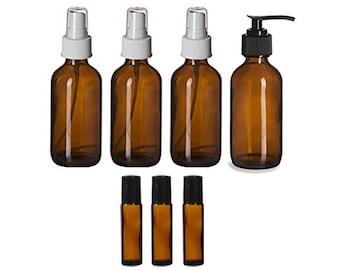 Essential Oil Amber Bottle Set