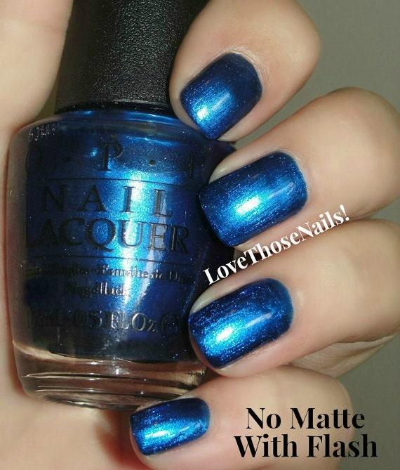 Royal Blue Matte Nail Polish