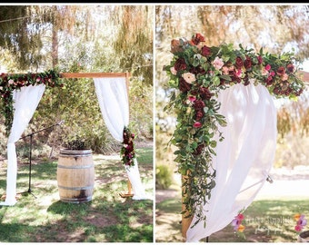 Wedding Arch, Faux Arch Flowers, Archway Flowers, Silk Arch Flowers, Rose Arch,Silk Rose Arch, Arbor Flowers, Chuppah Flowers,