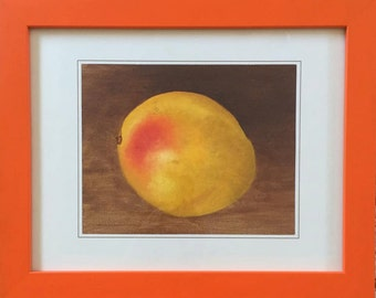 Mango. Framed oil painting.