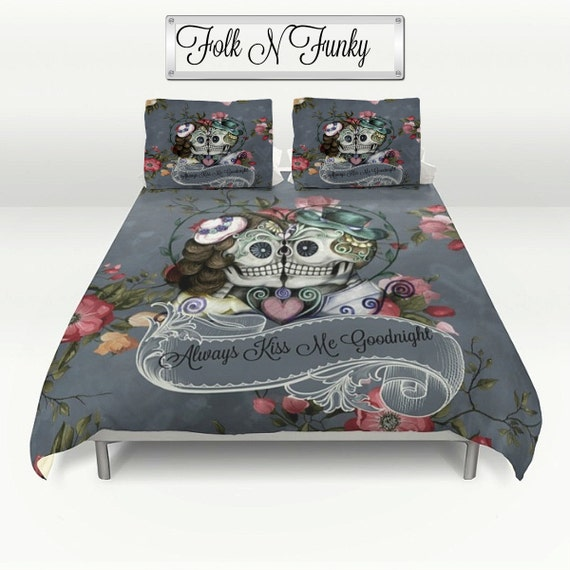 skull bedroom decor skull bedding sugar skulls duvet cover comforter by 13167