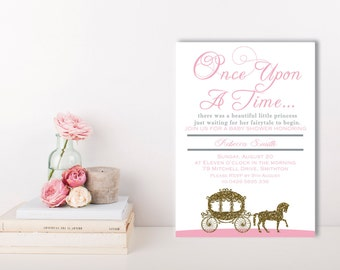 Once Upon A Time Baby Shower Invitation, Happily Ever After Invitations, Glitter Baby Shower Invitations, Shower Invitations, Baby Sprinkle