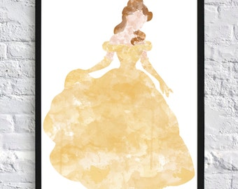 Belle Watercolour - Framed