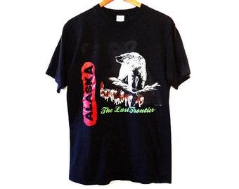 Vintage 1990 Alaska Wildlife Polar Bear Sled Dog Shirt - Large - Vintage Tees - Mens Tee - Tshirts - T-Shirts -
