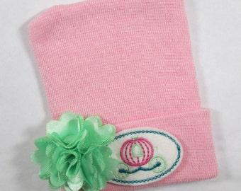 Newborn Hospital Hat, Newborn Beanie, Newborn Hat, Newborn 2 Ply Hat, Newborn Baby Hospital Hat, Carriage Hospital Hat, Newborn Keepsake Hat