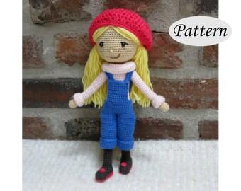WINTER GIRL - Amigurumi Pattern Crochet Doll Pattern - Tutorial - PDF - Plush Doll Girl