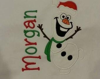 Boy's Olaf Christmas Shirt // Olaf shirt