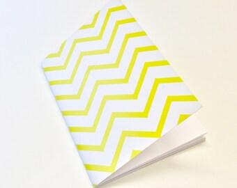 yellow chevron a6 notebook
