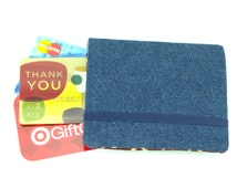 Gift Card Wallet - holds up to 18 cards - Blue Denim Wallet, Gift Card Holder, Credit Card Wallet