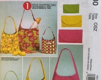 McCall's Fashion Accessories 6130 - 1 Hour Shopping Bags Sewing Pattern