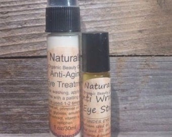 Under Eye Serum and Lotion Duo w/Hyaluronic Acid & Double Vitamin C