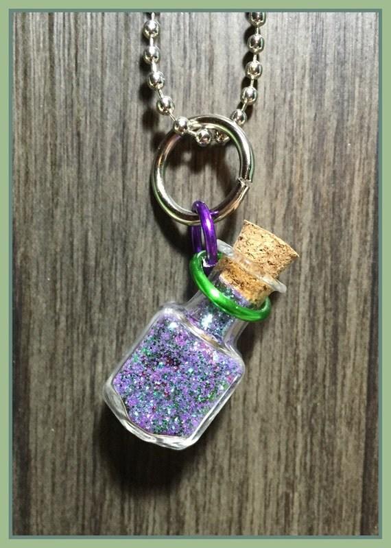 Joker or harley quinn mystery bottle charm by for Harley quinn and joker jewelry