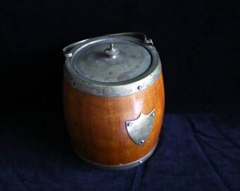 Vintage small Oak barrel Ice bucket