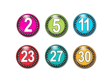 Calendar Numbers - Numbers 1 - 31 - Attendance Numbers - Magnetic Numbers  - Homeschool Family - Preschool Learning - Counting Magnets